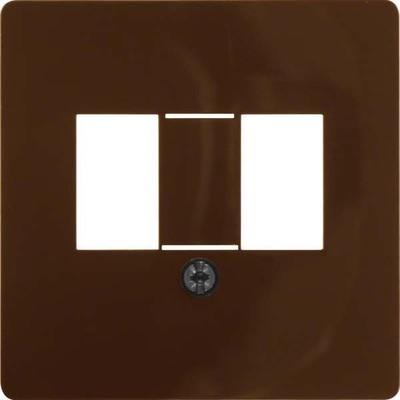 Berker Zentralplatte br/gl für TAE-Steckdose 145801