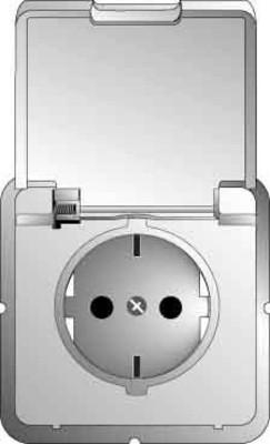 Steckdosen mit Klappdeckel