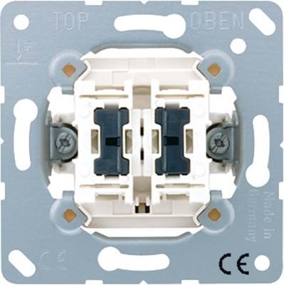 Jung Wipp-Kontrollschalter Serie mit 2 Glimmlp. 505 KOU5