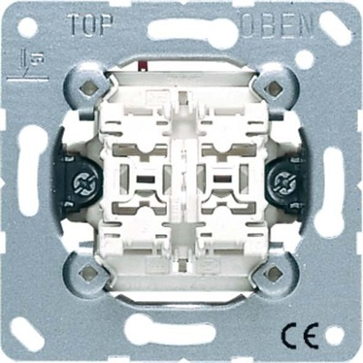 Jung Doppel-Taster 10AX 250V 2 Schließer/Glimmlp 535 U5