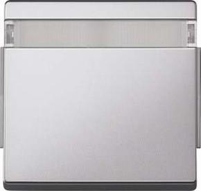 Merten Wippe aluminium mit Schriftfeld 343960