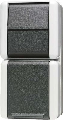 Jung Schalter-Steckdosen-Kombi. 16A 250V 876 W