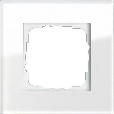 Gira Abdeckrahmen 1-fach weissglas Esprit 021112