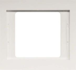 Berker Rahmen 1-fach polarweiß glänzend IP44 13137009