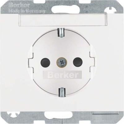 Berker SCHUKO-Steckdose polarweiß glänzend 47357009