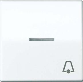 Jung Wippe Symbol KLINGEL alpinweiß für beleuchtb.Taster ABAS 591 KO5K WW