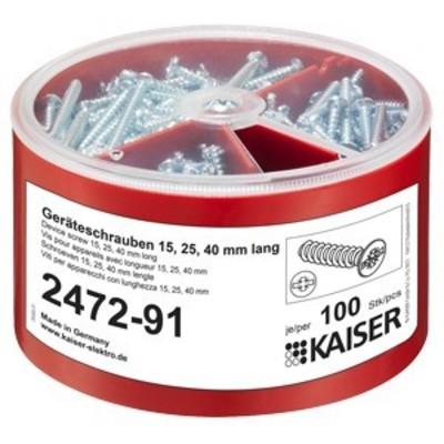 Kaiser Geräteschrauben-Box je 100 3,2x15/25/40 2472-91