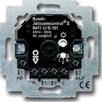 Busch-Jaeger Jalousiecontrol-Einsatz 2Schliesser 3A 690VA 6411 U/S-101