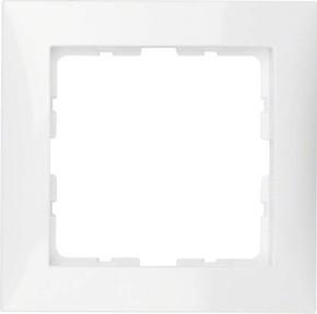 Berker Rahmen 1-fach polarweiß glänzend senkrecht/waagerecht 10118989