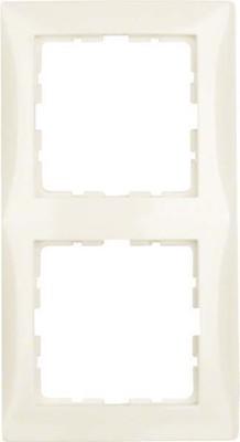 Berker Rahmen 2-fach cremeweiß glänzend 10128982