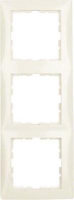 Berker Rahmen 3-fach cremeweiß glänzend 10138982