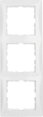 Berker Rahmen 3-fach polarweiß glänzend senkrecht/waagerecht 10138989
