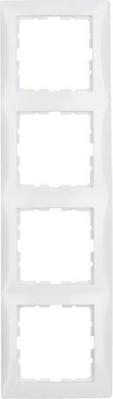 Berker Rahmen 4-fach polarweiß glänzend senkrecht/waagerecht 10148989