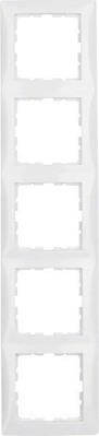 Berker Rahmen 5-fach polarweiß glänzend 10158989
