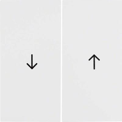 Berker Wippe polarweiß glänzend Symbol Pfeil 16258989