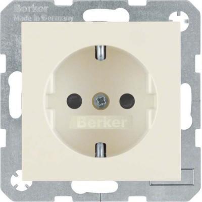 Berker SCHUKO-Steckdose cremeweiß glänzend 47238982