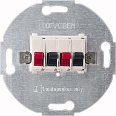 Merten Lautsprecher-Einsatz polarweiß 2-fach 467019
