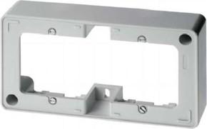 Berker Rahmen 2-fach polarweiß/ glänzend AP, m.Leitungseinf. 10300069