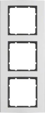 Berker Rahmen 3-fach aluminium 10133004