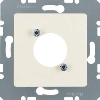 Berker Zentralplatte weiß f.Rundsteckverbinder 141202