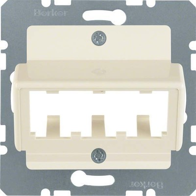 Berker Zentralplatte weiß f.3 MINI-COM Module 142702