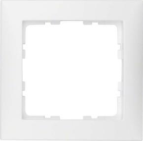 Berker Rahmen 1-fach pws/matt senkrecht/waagerecht 10119909