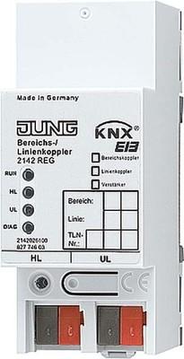 Jung KNX Bereichs/Linienkoppl. REG Gehäuse 2TE 2142 REG