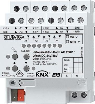 Jung KNX Jalousieaktor REG Gehäuse 4TE 2504 REGHE