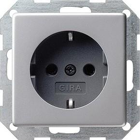 Gira Schuko-Steckdose aluminium 0188203