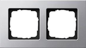 Gira Rahmen 2-fach aluminium 0212203