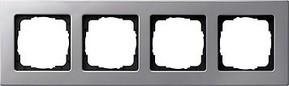 Gira Rahmen 4-fach aluminium 0214203