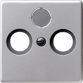 Gira Zentralplatte aluminium Koax 0869203