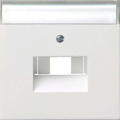 Gira Zentralplatte UAE/IAE/ISDN rws/gl m.Schriftfeld 0284112