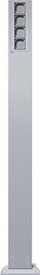 Gira Energiesäule aluminium ohne Geräte 135626