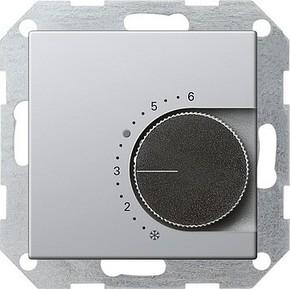 Gira Raumthermostat aluminium Wechsler, 24V 0397203