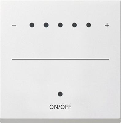 Gira Aufsa. Touch-Dimmer reinweiß-glänzend System 2000 226003