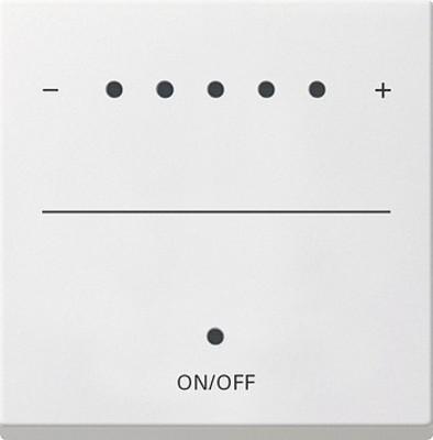 Gira Aufsa. Touch-Dimmer reinweiß-seidenmatt System 2000 226027