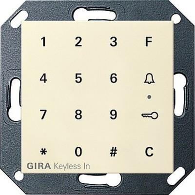 Gira Code Tastatur cremeweiß-glänzend Keyless In 260501