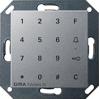 Gira Code Tastatur aluminium Keyless In 260526