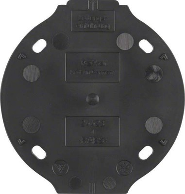 Berker Bodenplatte S1930 schwarz 1-fach ch 133111
