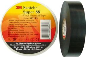 3M Deutschland PVC Elektro-Isolierband 19mm x6m schwarz ScotchSuper88 19x6