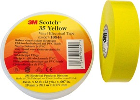 3M Deutschland Elektro-Isolierband 19mm x20m ge Scotch 35 19x20 ge