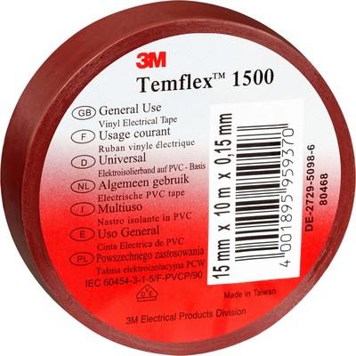 3M Deutschland Elektroisolierband 15mm x10m br TemFlex 1500 15x10br