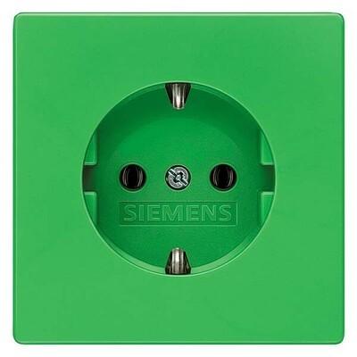Siemens Indus.Sector Schuko-Dose Delta Style, Grün 5UB1851