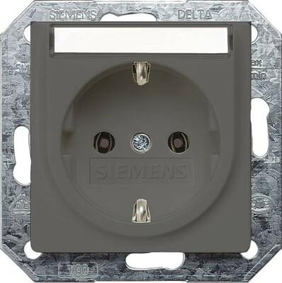 Siemens Indus.Sector Schuko-Dose Delta Vita, car/met 5UB1923