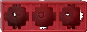 Gira AP-Gehäuse 3-fach rot S-Color 006343