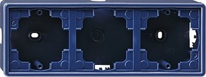 Gira AP-Gehäuse 3-fach bl S-Color 006346