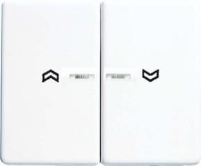 Jung Wippe Symbole/Lichtl.aws für Taster 2-fach SL 595 KO5P WW