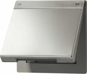 Jung Klappdeckel aluminium mit Rückstellfeder AL 2990 NAKL