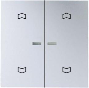 Jung Wippe Symbole aluminium für Taster 2-fach A 595 KO5MP AL